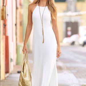 Boston Proper White Maxi Dress